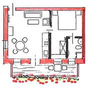 FeWo Loher - Grundriss Wohnung A