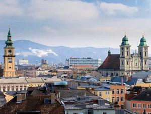 Linz (Österreich) - Blick auf die Stadt